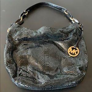 Snake print Michael Kors shoulder bag